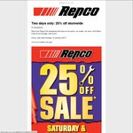 25% off Storewide @ Repco