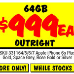 iPhone 6s Plus 64GB $999 @ JB Hi-Fi