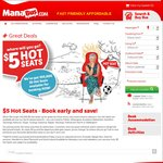 $5 Bus Fares @ ManaBus.com (Selected Services) [North Island]