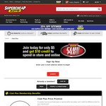 Club Plus Membership - $3.75 (Normally $5), Get $10 Credit @ Supercheap Auto