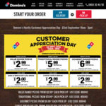 Value Pizzas $2.99ea, Traditional Pizzas $5.99, Gourmet Pizzas $6.99 + More @ Domino's (Huntly)