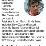 Win a Double Pass to see Hamish Kilgour from The Dominion Post (Wellington)