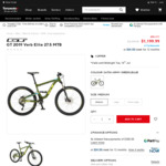 GT Verb Elite 2019 Full Suspension Mountain Bike $1199 (Was $2199) @ Torpedo7