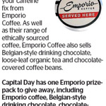 Win an Emporio Prize Pack (Coffee, Tea, Hot Chocolate etc.) from The Dominion Post