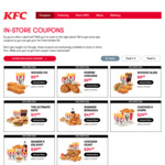 KFC Coupons: 4x Wicked Wings + Reg Chips for $6 and More