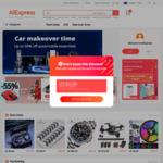 AliExpress Coupons for New Social Media Users. US$4 off US$5 Minimum Spend