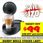 Nescafe Dolce Gusto Stelia Coffee Machine $99 (Was $269) @ JB Hi-Fi (Instant Deals)