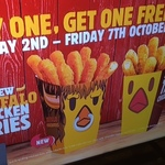 2 Chicken Fries for $4.95 @ Burger King (If Joe Wins His Fight)