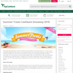 Win 1 of 58,000 Instant Win Cash Prizes (from £0.10 to £100) from TopCashBack UK