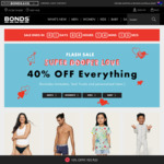 40% off Flash Sale @ Bonds