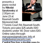Win a Double Pass to See Nikolai Saratovsky from The Dominion Post (Wellington)