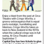 Win a Double Pass to Circa Theatre with Cringe Worthy from The Dominion Post (Wellington)