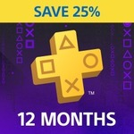 PlayStation Plus 12 Month Membership $67.45 (Was $89.95) @ Playstation (New & Inactive Customers Only)