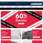 60% off @ Sheridan Outlet (Boxing Day 2020)