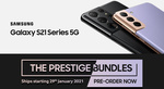 SAMSUNG GALAXY S21 / S21 PLUS /S21 ULTRA Pre-Order Deals from PB Tech