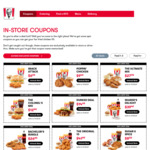 KFC April Coupons: Mini Popcorn Chicken, 2pcs, Reg Chips + Reg Potato & Gravy $9.49 + More