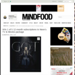 Win 1 of 5 12-Month Neon Subscriptions from Mindfood