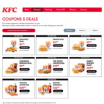 KFC Coupons: 2Pc Chicken + Burger + 3 Sides for $9.99, Family Burger Feast $29.99 and More