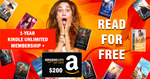 Win A 1-Year Kindle Unlimited Membership + A $200 Amazon Gift Card.