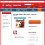 KitchenAid Artisan 2 Slice Toaster - Empire Red $65 (Save $184), Sunbeam Cool Touch 2-Slice $29 (save $50) @ Heathcote
