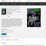 FREE HD Movie - Tom Clancy's Ghost Recon Alpha Movie in HD (Was $13.08) @ Microsoft US