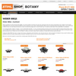 STIHL Botany - Weber BBQ + Accessory 4 Day Winter Sale (~13% off)