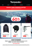 Up to 60% off: e.g. Torpedo7 Sector Snow Helmet $45.56, Men's or Women's Resolve V4 Down Jacket  $110.50 + more @ Torpedo7