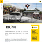 Big Boys Toys Tickets 50% Off  (For AA Members technically)
