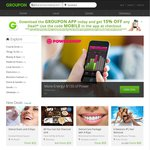 Groupon - 15% off Any Deal (Up to $50 Discount) Using Groupon App and Coupon Code