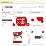Farmers Clearance Sale - Remington Hyperflex Shaver $70 Save $279.99 - Volta Vacuum $70 Save $229.99 & more