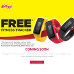 Free Fitness Tracker - Purchase Any 3 Specially Marked Packs @ Kellogg's