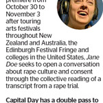 Win a Double Pass to Jane Doe from The Dominion Post (Wellington)