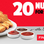 $10 for 20 Chicken Nuggets @ KFC