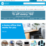 Warehouse Stationery: $5 Off every $50 Spent (Exclusions Apply)
