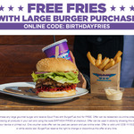 Free Spud Fries and Aioli with Large Burger Purchase @ BurgerFuel