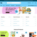 $25 off Orders over $60 @ Pet Direct