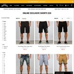 All Shorts $20 - Online Only @ Hallensteins