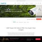 $20 off for Reolink 4MP Dual Band Wi-Fi Security Camera with Built-in SD Card RLC-410WS (USD $79.99)