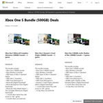 Xbox One S 500GB 4 Game Bundle $369 Delivered @ Microsoft