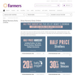 Half Price Nursery + 30% of Infants' and Kidswear Sale @ Farmers