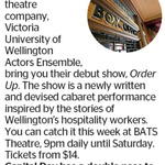 Win a Double Pass to Order Up from The Dominion Post (Wellington)