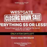 All Clothing, Footwear and Accessories $5 @ NZSALE (Westgate)