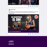 Claim a Free Whopper Jr if the Breakers Score 90 Points @ Burger King (Excludes Christchurch Airport)