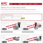 New Coupons @ KFC // Snack Burger Combo $4.99 // Hot & Spicy Lunch $7