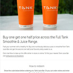 Buy One Juice or Smoothe, Get One Half Price @ Tank via Vodafone Rewards