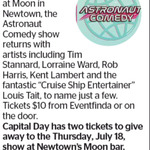 Win a Double Pass to The Astronaut Comedy Show from The Dominion Post (Wellington)