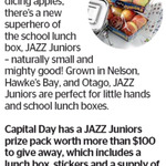 Win a JAZZ Juniors prize pack (worth $100) from The Dominion Post