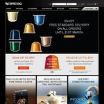 FREE Standard Delivery on All Orders @ Nespresso