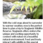 Win a Family Pass to Staglands Wildlife Reserve from The Dominion Post (Wellington)