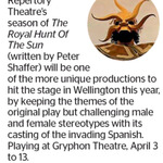 Win a Double Pass to The Royal Hunt Of The Sun from The Dominion Post (Wellington)